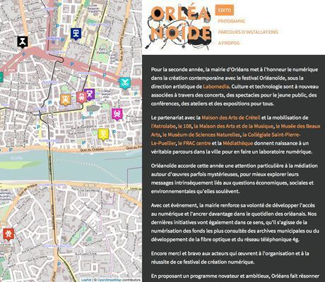 Screenshot du site