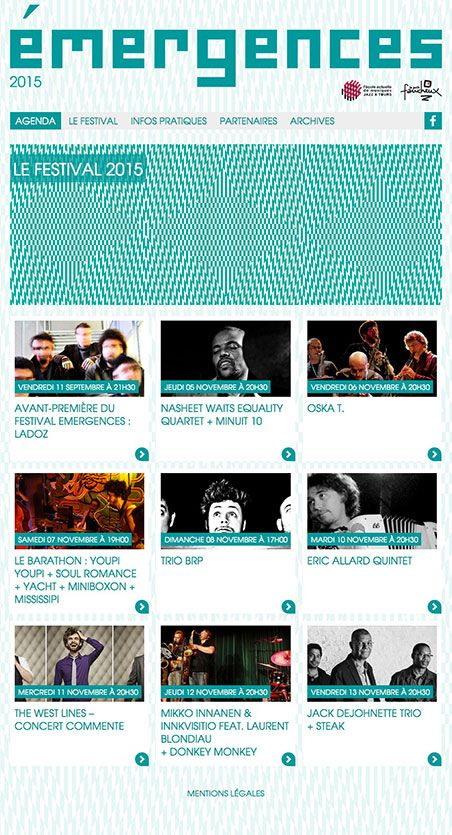 Festival Emergences 2015