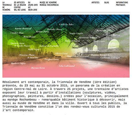 Affiche de la Triennale